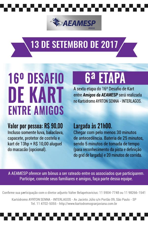 Sexta Etapa Do 16º Desafio De Kart Entre Amigos Aeamesp 130917